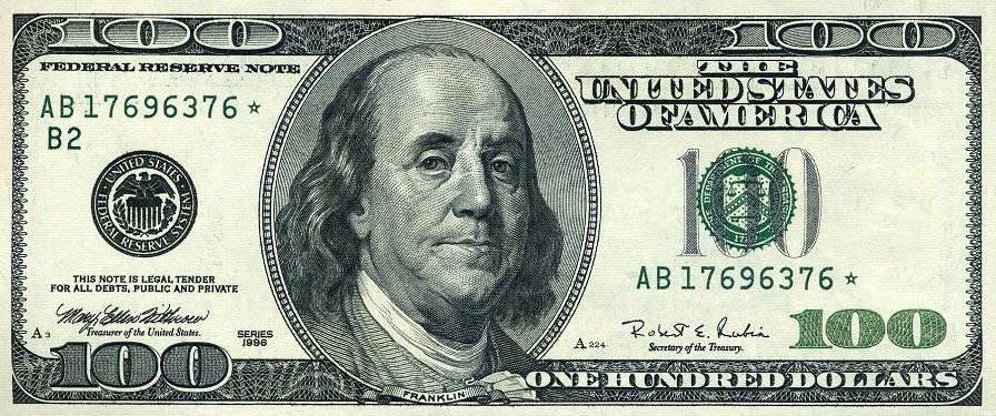 100 долларов с Франклиным